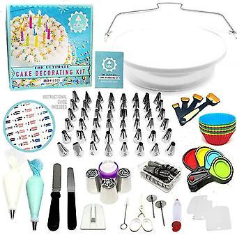 Conjunto de 110 piezas de herramientas multifuncionales de decoración de pasteles y asistentes para hornear