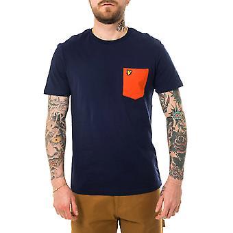 Mannen lyle & scott contrast pocket t-shirt ts831v.w363 T-shirt
