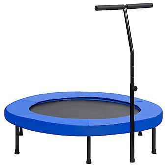 Fitness trampolína s rukojetí a bezpečnostní podložkou 122 cm