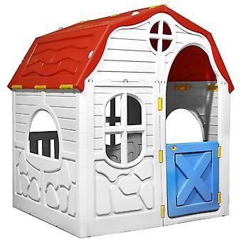 Kinder faltbares Spielhaus mit Arbeitstür und Fenstern