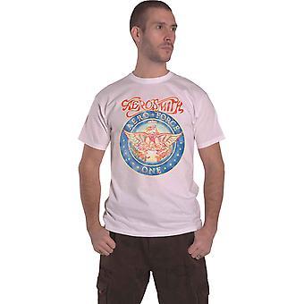 Aerosmith T Shirt Aero Force One Band Logo nowe Oficjalne Męskie Białe