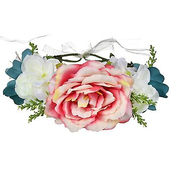 Bridal Tiara Fairy Headdress Flower Wreath Headband