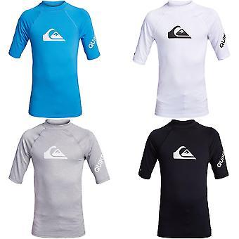 Quiksilver Boys All Time Short Sleeve UPF 50 Rash Vest Guard T-Shirt Top Tee