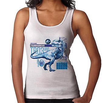 Jurassic Park T Rex Tr03 An1 Frauen's Weste