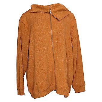 Attitudes By Renee Women's Sweater (XXL) Knit Metallic Orange A391099