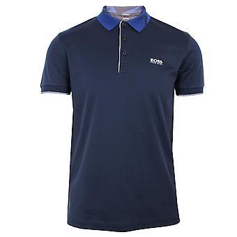 Hugo boss athleisure paule 6 men's navy polo shirt