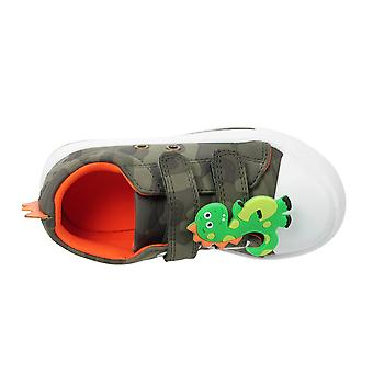 Boys Green Meson Dino Low-Top Trainer UK Sizes Child 6 - 12