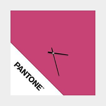 PANTONE Montre Double Couleur Rose, Blanc, Noir, en Métal L40xP0,15xA40 cm