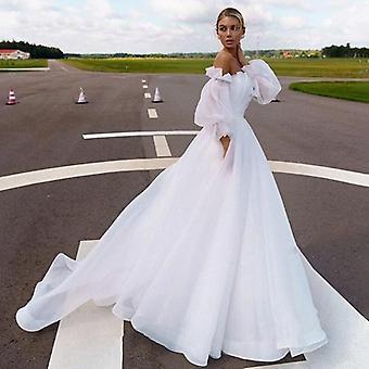 Wedding Dress Fairy 2 In 1 Sleeve Bride Gown