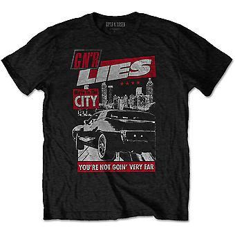 Guns N' Roses - Muuta kaupunkiin Miesten pieni T-paita - Musta