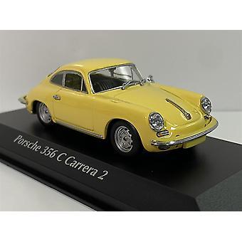 Porsche 356 C Carrera 2 1963 Yellow 1:43 Maxichamps 940062361