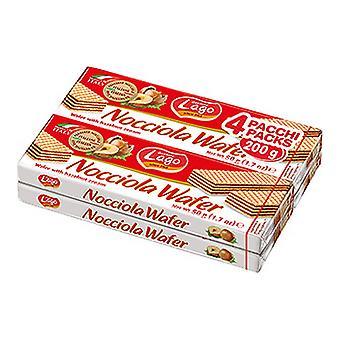 Biscuits Lago Waffers Nocciola (4 x 50 g)