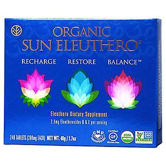 Sun Chlorella Organic Sun Eleuthero, 1.7 Oz (240 Tabs)