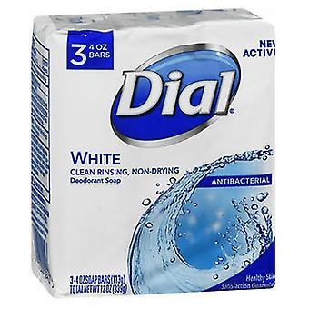 Dial Dial Antibacterial Deodorant Soap White, 3 X 4 Oz bars