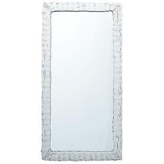 vidaXL Specchio Bianco 120x60 cm Salice