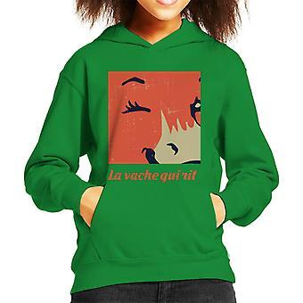 Den grinende ko tæt på Blink Kid's hætteklædte sweatshirt