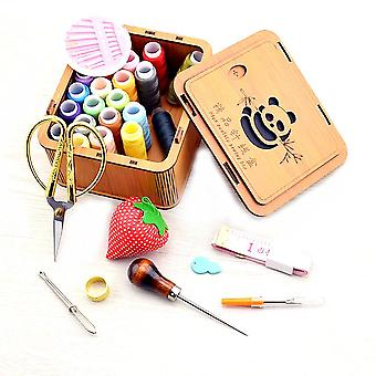 Hochzeit Home Geschenk Nähen Box Set 24 Farben Nähen Nagel-freie Kunstwerk Panda Nähen Kit
