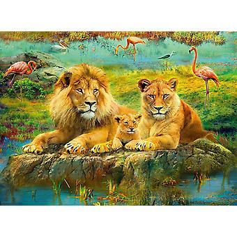 Ravensburger Lions of the Savannah Jigsaw Puzzle (500 Pieces)