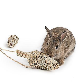 Huisdier konijn verveling speelgoed bijten stro opknoping foerageren gras bal