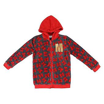 Hooded Sweatshirt for Girls Minnie Mouse Red Grey