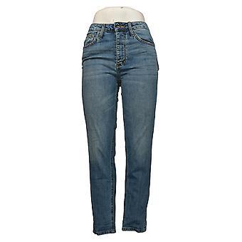 Sam Edelman Vaqueros de mujer pierna recta con bolsillos azules