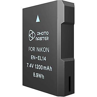 EN-EL14 ENEL14a Ersatzakku für Nikon D3300, D3200, D3100, D5100, D5200, D5500, Coolpix