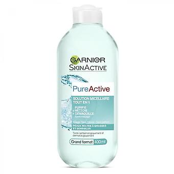 Garnier-pure Active Micellar Solution All In One Large Format - 400 Ml