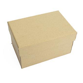 12.5cm Rectangulaire High Paper Mache Box avec couvercle à décorer | Boîtes papier