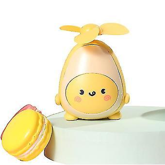 Cute Avocado Fan Usb Charging Portable Handheld Fan For Children(Yellow)