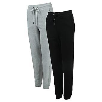 kvinners modige sjel 2 pakke joggebukser i svart