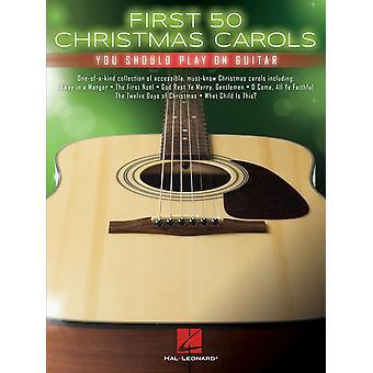 Först 50 julsånger du bör spela på gitarr