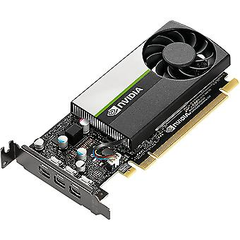 PNY NVidia T400 Professional Grafikkort, 2 GB DDR6, 384 kärnor, 3 miniDP 1.4 (3 x DP-adaptrar), låg profil (konsol ingår)