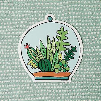 Succulent Terrarium Vinyl Decal Sticker