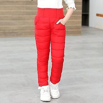 ボーイズ & ウィンター パンツ - コットン パッド入りの厚い暖かいズボン ハイ ウエスト レギンス