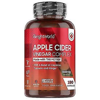 Apple Cider Vinegar Complex Capsules - 1860mg  Apple Cider Vinegar Complex Weight Management Formula, Apple Cider Vinegar Diet Support With Ginger
