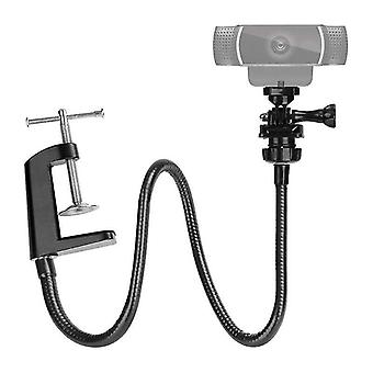 Motor vehicle video monitor mounts camera bracket with enhanced desk jaw clamp flexible gooseneck stand for webcam brio 4k |tripods