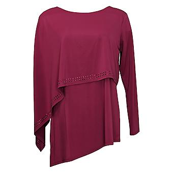 Antthony Women's Top Long Sleeve Double Layer Purple 716294