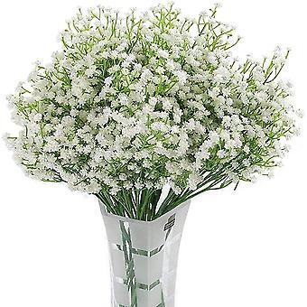 מלאכותי ג'יפסופילה 12pc פרח משי לבן לחתונה, מסיבה, כלה, עיצוב המשרד