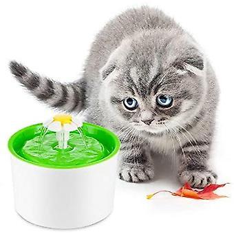 Blomma fontän automatisk cirkulerande vattenbehållare för hundar katter djur utan matta europeiska specifikationer 22.5 * 12.3 * 19.3cm