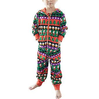 Perhe Vastaavat Miehet Lapset Joulu Onesie Pyjamas Jumpsuit Sleepwear
