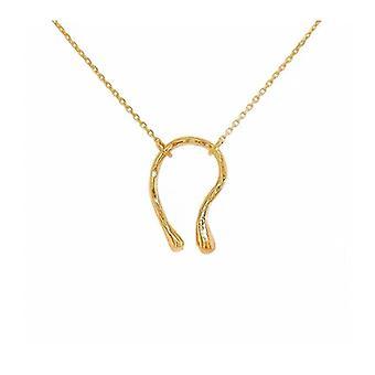 Savi Suggy The Same Niche Design U-shaped Twisted Streamline Horseshoe-shaped Necklace Clavicle Chain Ins With Fedoma Pendant