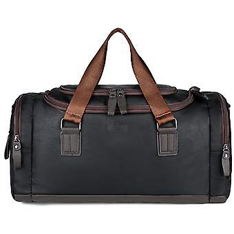 ブラック Pu メンズ トラベル バッグ 大容量ハンドバッグ ショルダー バッグ クロスボディ