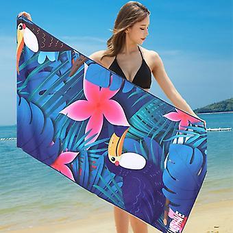 מגבות אמבט מיקרופייבר לייבוש מהיר, מגבות חוף ללא חול, מחצלות חוף, קיץ