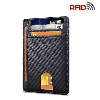 Slim Rfid Blocking Leather Wallet Minimalist Credit Card Money Purse Card Holder