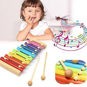 Bois 8 Tons Multicolore Xylophone Bois Instrument de Musique Jouets Pour Bébé Enfants