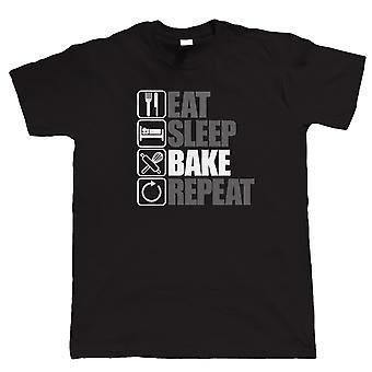 Mangez le sommeil Bake Repeat, Mens Funny, Gâteaux T Shirt, Cadeau Lui Sa maman papa