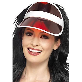 Poker visor Red Hat z Poker Poker kapelusz Casino Hat