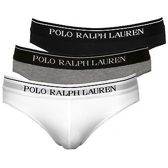 Polo Ralph Lauren 3-Pack Classic Briefs, Black/Grey/White