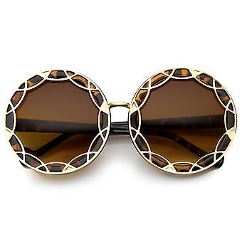 نظارات مستديرة النسائي مع UV400 حماية العدسة المركبة