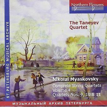 Taneyev Quartet - N. Miaskovsky - Complete String Quartets 4 [CD] USA import